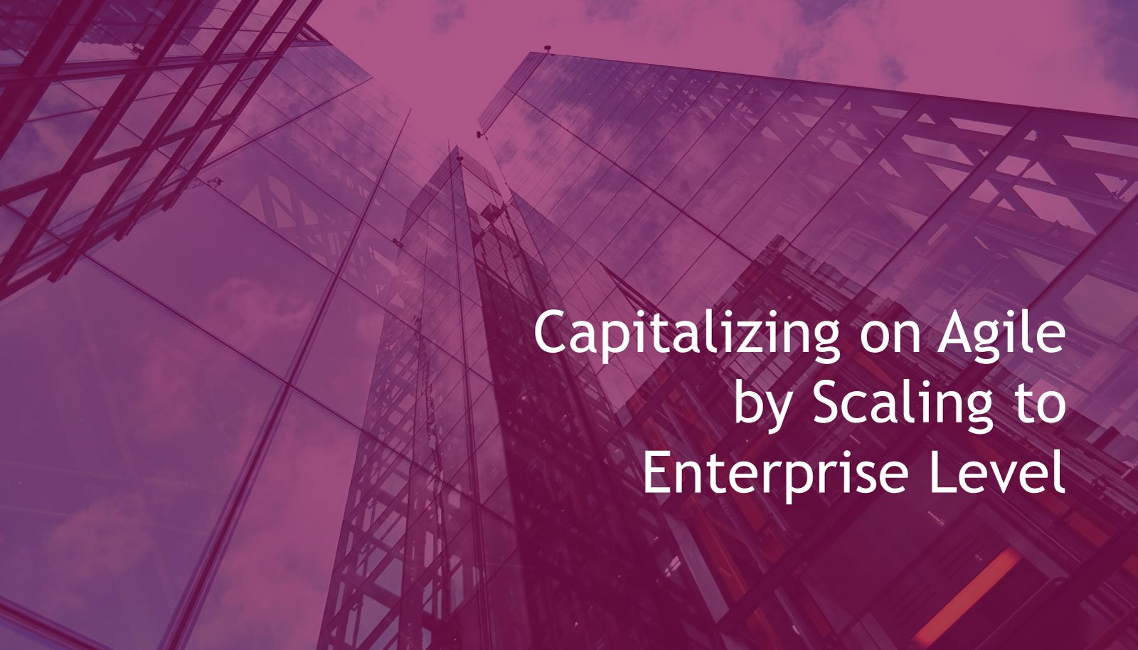 White Paper- Capitalizing on Agile by Scaling to Enterprise Level 1